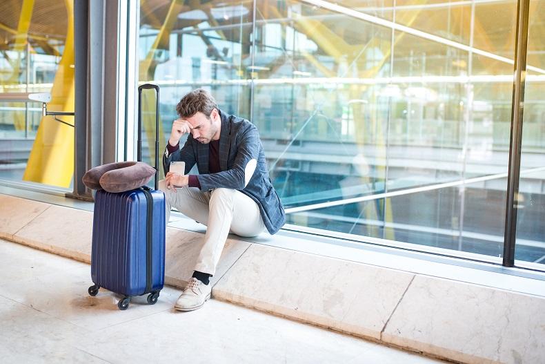 Flugausfall am Flughafen
