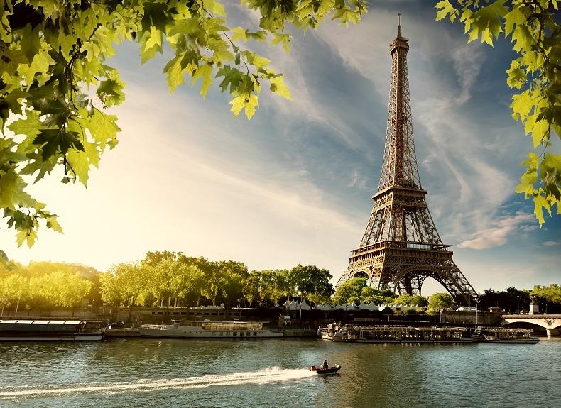 Sonnenuntergang über Paris