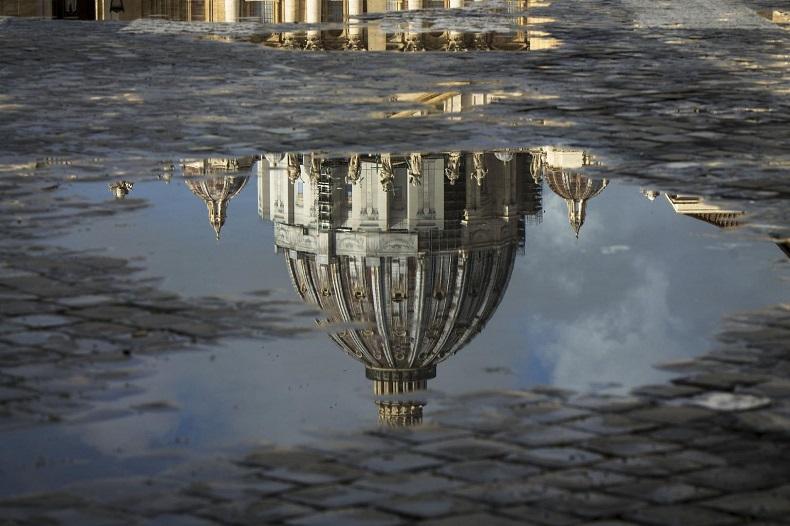 Rom an einem Regentag