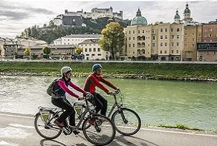 Mit dem Fahrrad Salzburg erkunden © Slow Bike makrohaus / Thomas Kujat